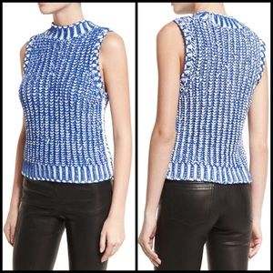 Alice + Olivia Sleeveless Cable Knit Sweater Top